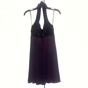 Aspeed Velvet Halter Cocktail Dress Sz M